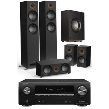 Denon Equipo AV AVR-X2600 +Jamo s807 HCS  Black+S810 Altavoces Av