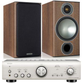 Denon PMA-800AE Silver +Monitor Audio Bronze 2 Walnut Conjunto sonido