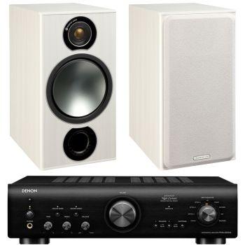 Denon PMA-800AE Black+Monitor Audio Bronze 2 White conjunto sonido