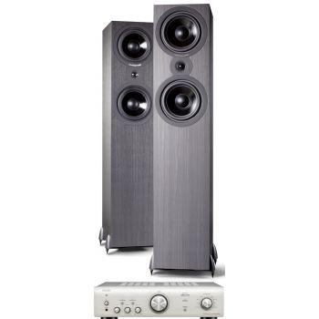 Denon PMA-600 NE Silver+Cambridge Audio SX80 BK Conjunto audio