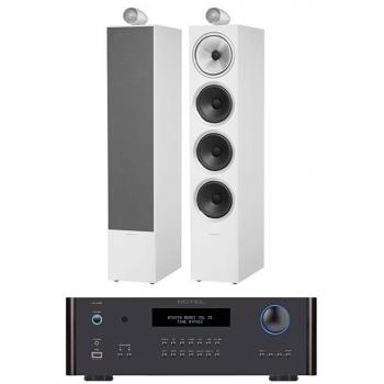 ROTEL RA-1592 Black+ Bower Wilkins 702 White Conjunto Audio