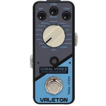 Valeton Coral Verb II Pedal de Efectos para Guitarra Eléctrica