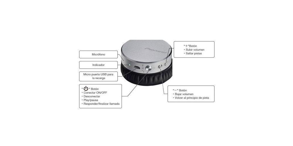 PIONEER SE-MJ561BT T Auriculares Bluetooth Marron