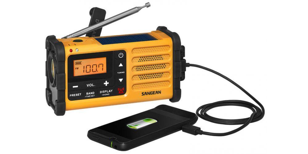 sangean mmr88 radio ecologica recarga manual linterna carga movil