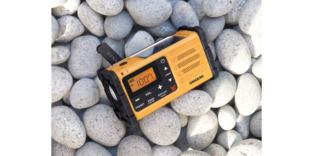 SANGEAN MMR88 Radio, Carga Manual, linterna