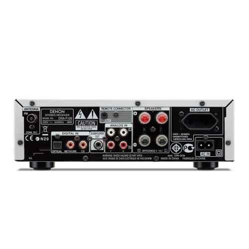 denon dra f109 stereo receiver silver conexiones