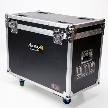 Audibax Monster Beam 7R 2 unidades + Flightcase Doble. 14 colores + Blanco. 17 Gobos fijo + Blanco