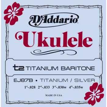 D´addario EJ87B Titanium Ukulele Baritone cuerdas para ukelele