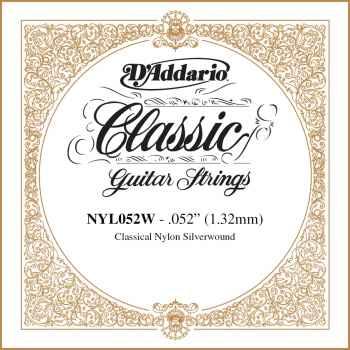 D´addario NYL052W Cuerda Suelta para Guitarra Española