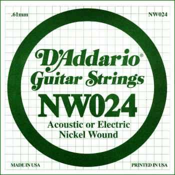 D´addario NW024 Cuerda Suelta para Guitarra Eléctrica