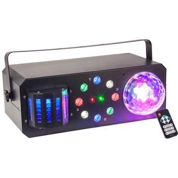 Ibiza Light COMBI FX1 Efecto De Iluminación 4 en 1