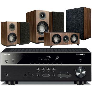 Yamaha RXV485+Jamo S803HCS+S808 SUB walnut Conjunto Home Cinema