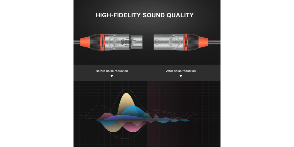 audibax xlr pro cable negro 15 metros mh