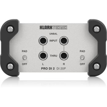 Klark Teknik DI 20P Caja DI stereo Pasiva