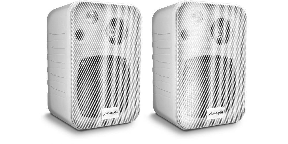 altavoces pared con soporte incluido audibax pr42w altavoz blanco