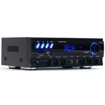 Equipo Karaoke Amplificador Bluetooth Audibax ZERO 500 30W RMS + Altavoces Audibax PR42W Blancos