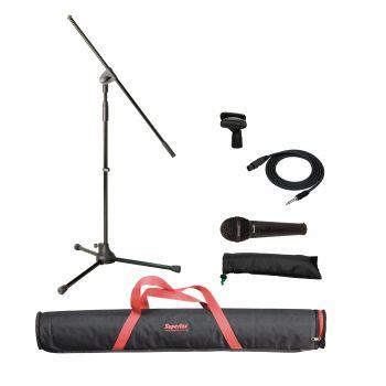 Superlux MSKA P Pack micrófono con soporte Jirafa y bolsa