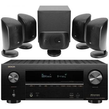 Denon AVR-X2600+BW MT50 Black  Cinema Pack 5.1 Conjunto AV