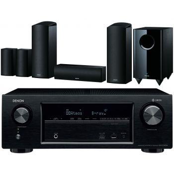 Denon AVRX1400+Onkyo SKS-HT588 Conjunto Dolby Athmos