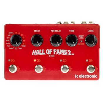 Tc Electronic HALL OF FAME 2 x 4 Pedal de Efectos Reverb para Guitarra