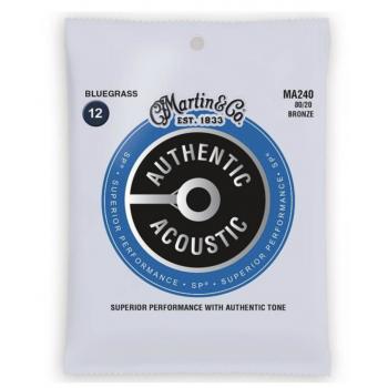 Martin MA240 Cuerdas Guitarra Acústica Authentic Sp Bronze 80/20 Bluegrass 12-56