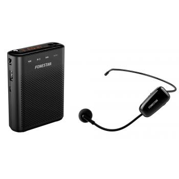 Fonestar ALTA-VOZ-W30 Amplificador Batería Portátil con micrófono inalambrico USB/SD/MP3. Megáfono para Profesores