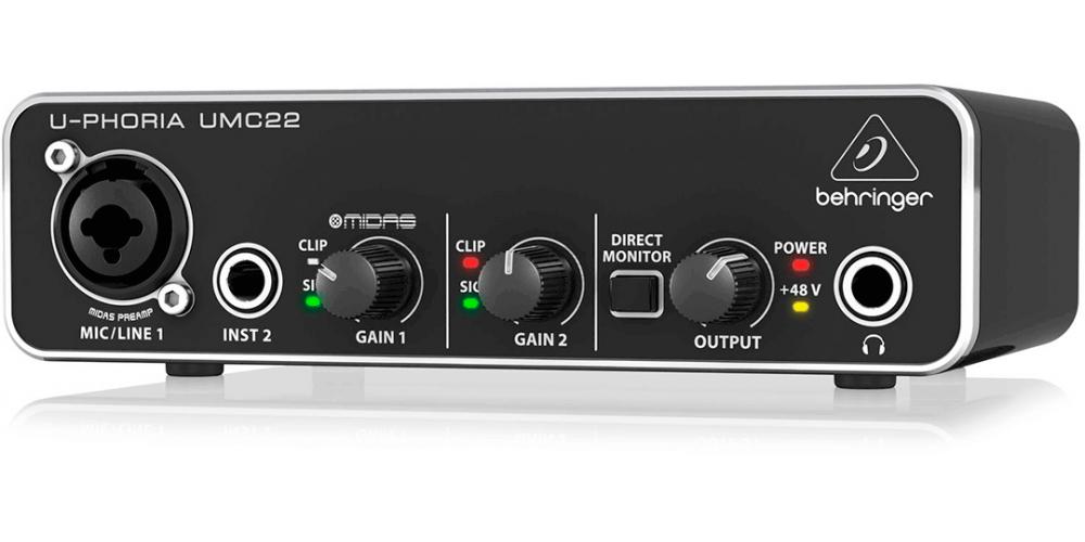behringer umc 22 interface audio