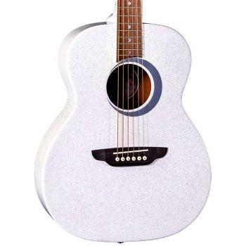 Luna Guitars Aurora Borealis 3/4 White. Guitarra Acústica