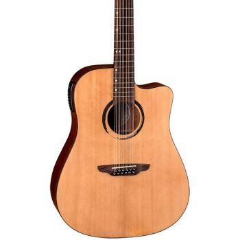 Luna Guitars Wabi Sabi Dreadnought Solid Top Caw A/E 12Str Guitarra Electroacústica