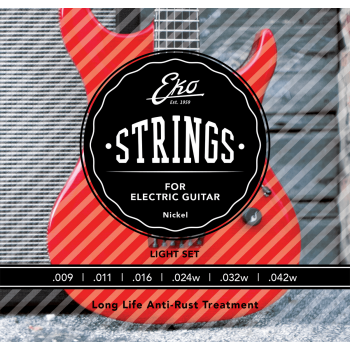 Eko Nickel Extra Light 9-42 Cuerdas Para Guitarra Electrica
