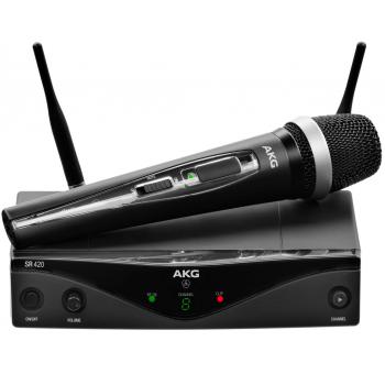 AKG WMS-420 VOCAL Capsula D-5  Microfono Inalambrico Mano,Banda U1