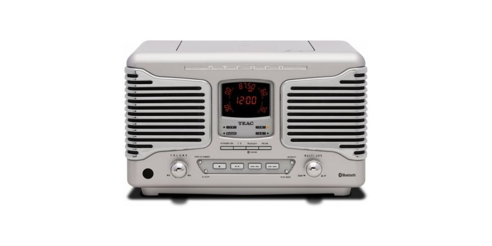 TEAC SL-D800 BT S Micro Cadena Retro, SILVER