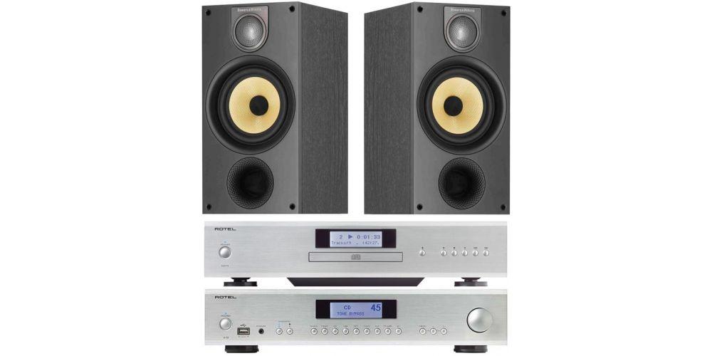rotel a12 silver amplificador cd14 bw686 black