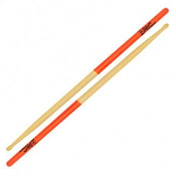Zildjian 7A Baquetas Dip Orange