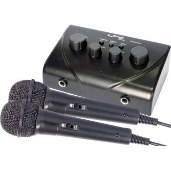 LTC TV-STATION Mezcaldor Karaoke con 2 Microfonos