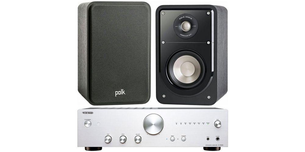 onkyo a 9010 stereo amplificador integrado silver polk audio s15