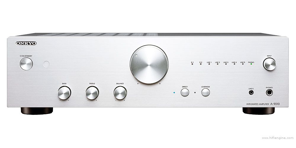 onkyo a 9010 stereo amplificador integrado silver