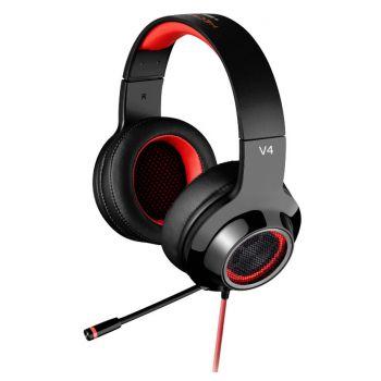 Edifier V4ROJO Auriculares gaming con micrófono y USB
