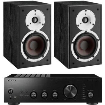 Pioneer A-40K+Dali Spektor 2 Black Conjunto Audio