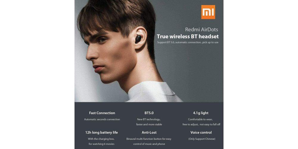 xiaomi auriculares redmi true wireless