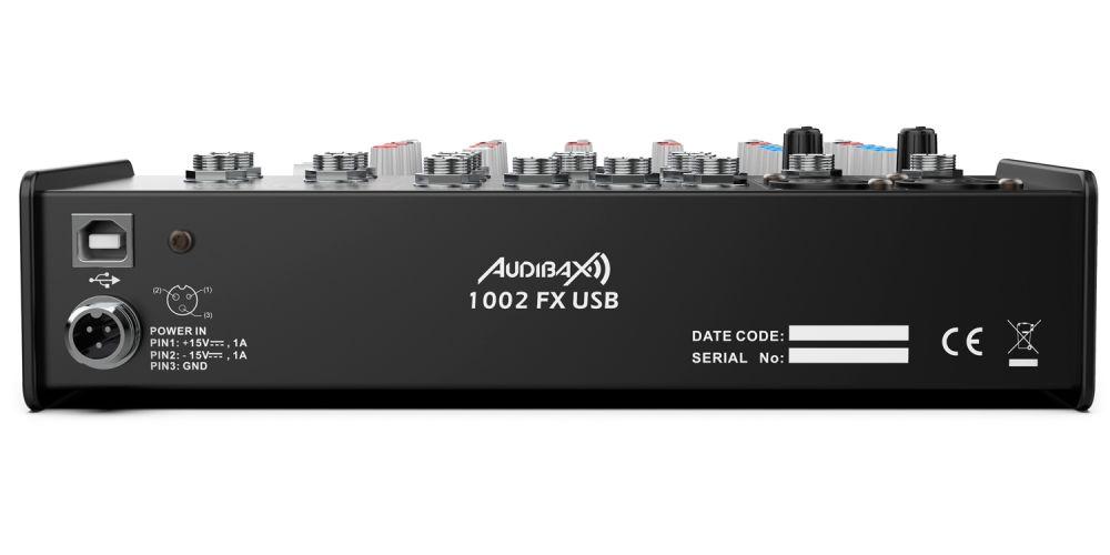 audibax 1002 fx usb rear