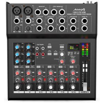 Audibax 1002 FX USB Mesa Mezclas 10 Canales Con Efectos y USB