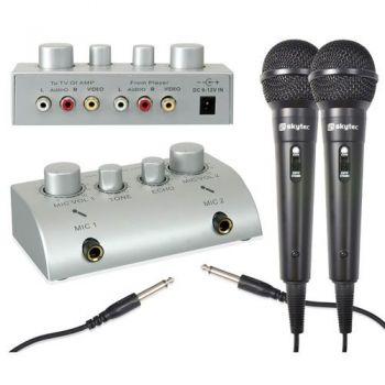 SKYTRONIC 103112 Mezclador de microfonos para Karaoke