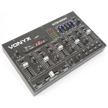 Vonyx Mezclador de 6 Canales con Efectos SD/USB/MP3/BT 172985