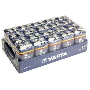 VARTA VIMN4022 Pila 9v Pack de 20 Unidades