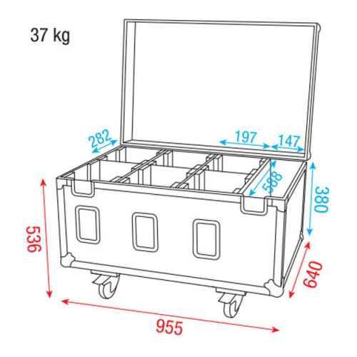 Dap Audio Case for 6x Studio Beam 150 D7020