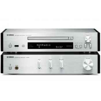 Yamaha MCR-N670 Silver Wharfedale Crystal 4-3