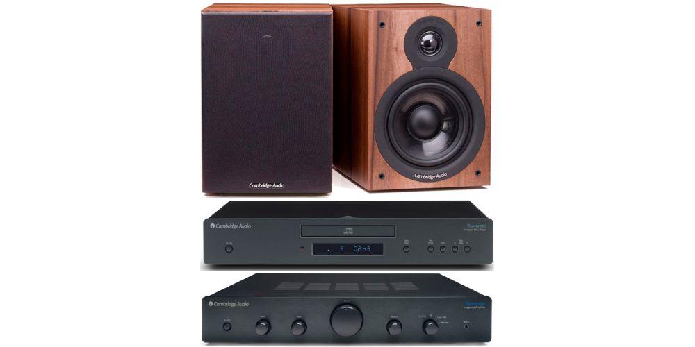 cambridge audio topaz am5 cd5 sx50 walnut