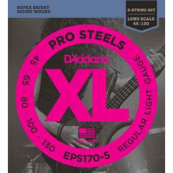 D´addario EPS170-5 ProSteels 5-String Bass cuerdas para bajo