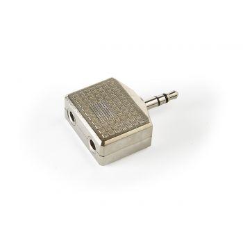 Fonestar AA-172 Adaptador 2 Minijack Stereo Hembra a 1 Minijack Stereo Macho